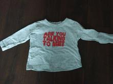 Šedé tričko 9-12 měsíců dlouhý rukáv, early days,80