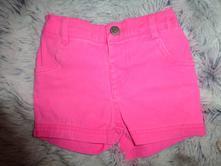 Neon růžové šortky 104-116, f&f,104