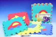 Pěnové puzzle dopravní prostředky 30x30cm 10ks,