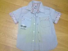 Košile proužek a kytičky, 104