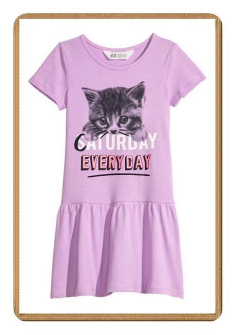 Šaty h&m kočka vel 4-6 let 110/116, h&m,110 / 116