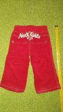 Zateplené manšestrové kalhoty 9-12měs, next,80