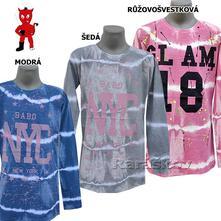 Kvalitní batikované triko pro holky, s atestem, 134 - 176