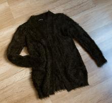 Chlupatý cardigan (kardigen), svetr bez zapínání, reserved,152