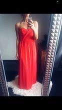 Červeno-růžové šaty značky asos, s