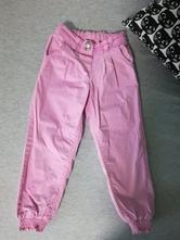 Plátěné růžové kalhotky, next,110