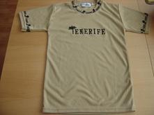 Béžové tričko s nápisem tenerife, 134