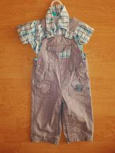 Laclové kalhoty, lacláče + košile vel. 74, okay,74
