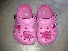 Růžové boty do vody domácí ala crocs v.23 ozdoby , 23