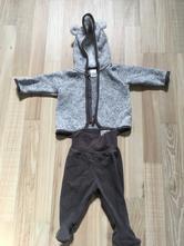 Teplý kabátek a polodupačky, h&m,62