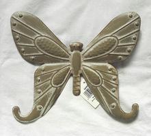 Závěsná dekorace motýl plechový,