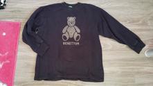 Mikina s medvídkem vel.xxl, benetton,xxl