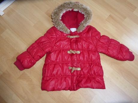Zimní bunda s kožíškem na kapuci, next,98