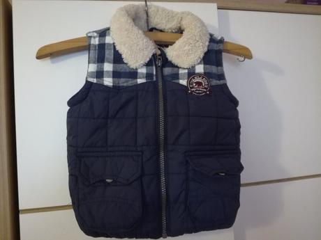 Chlapecká zateplená vesta podšitá fleecem, f&f,92