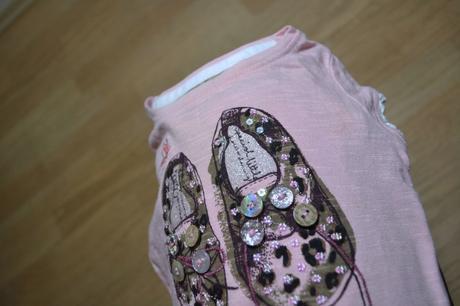Tričko s kr. boty s knoflíky, next,74