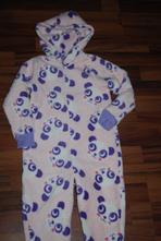 Medvídkový chlupaty overal, pyžamo, marks & spencer,104