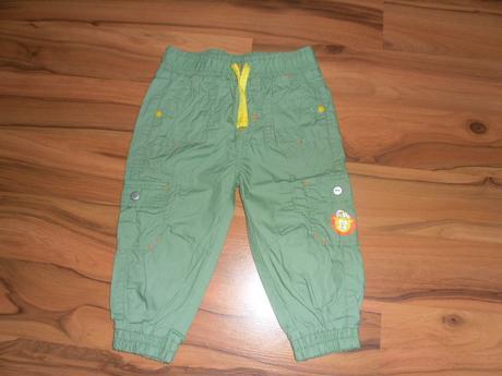 Plátěné kalhoty, vel. 80, ergee,80