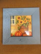 V013     obrázek slunečnice 26 x 26 cm,