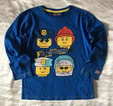 Vel. 122 modré pyžamové triko lego city, 122