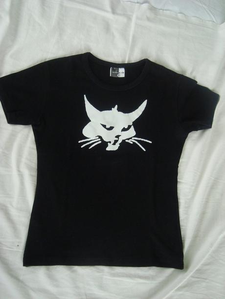 Tričko dámské s kočkou, m