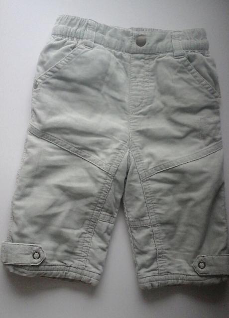 Zateplené manšestrové kalhoty, next,68