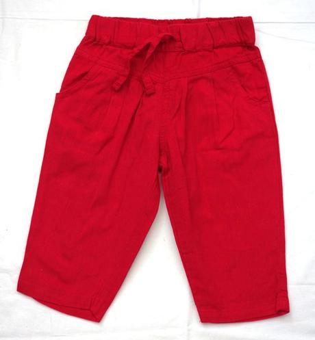Kalhoty plátěné vel. 12 - 18 m, matalan,86