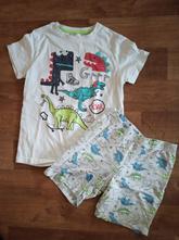 Letní pyžamo s dinosaury pepco, 122/128, top stav, pepco,122