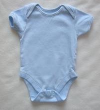 Bavlněné bodýčko s kr. rukávem nebesky modré, george,68