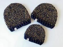 Zimní rodinný set čepic, <50 - 158