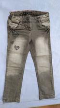 Šedé jeansy se srdíčky, palomino,98
