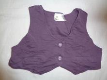 Krásná fialová bavlněná vesta, baby club,86