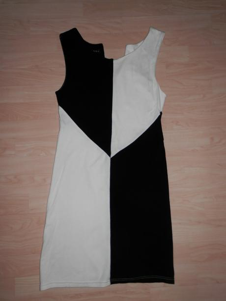 Černobílé šaty - vel. 40, amisu,40