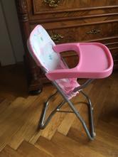 Jídelní židlička/sedátko pro panenku,