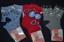 3x oteplené  ponožky dívčí, 26 - 35