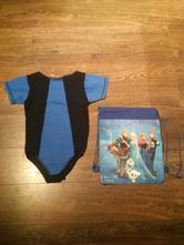 Gymnastický dres/trikot 134/140 + vak,