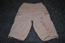 Meruňkové plátěné kalhoty vel. 74, 74