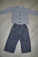 set džíny + svetřík, next,92