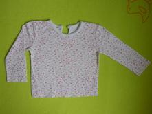 Bílé tričko s kytičkama, f&f,80