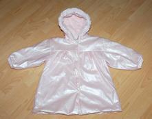 Nepromokavá růžová bundas kapucí, 98