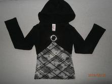 Triko,tričko s kapucí,vel.128/134,zn.c&a, c&a,122