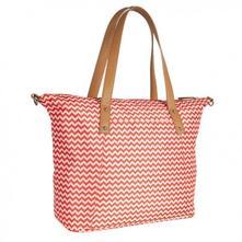 Přebalovací taška ke kočárku - červená/zigzag,