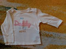 "Tričko marks spencer ""my daddy is my hero"", marks & spencer,62"