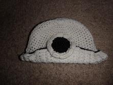 Háčkovaná čepička klobouček, 92