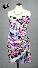 Různobarevné lipsy společenské šaty vel 38, 38