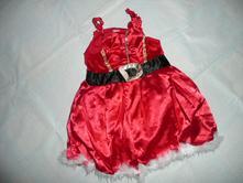 Maska kostým vánoční šaty vel 98/104 2/3 roky, 98