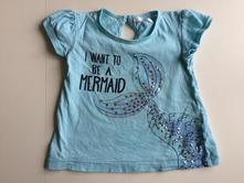 Bavlněné tričko kr. r. mořská panna, pepco,80