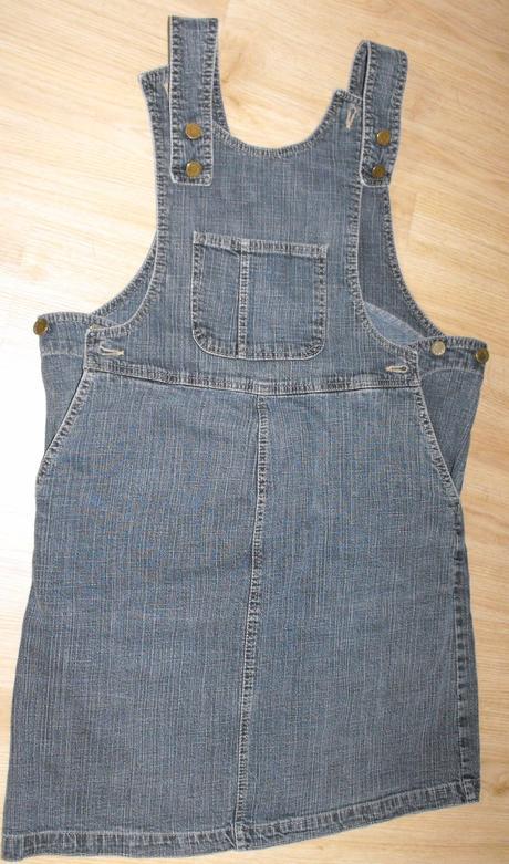 M222. těhotenská riflová sukně s laclem, 36