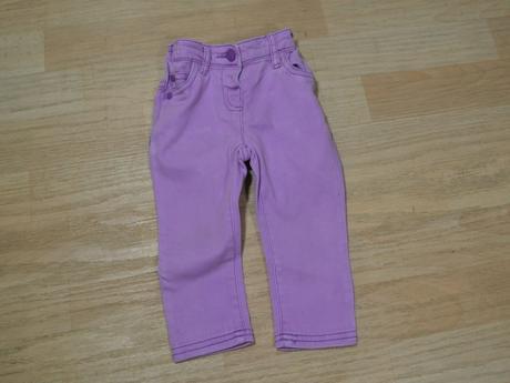 Kalhoty džíny fialové, next,80