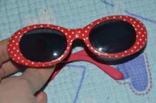 Červené sluneční brýly s puntíky, 1-3 roky, next,