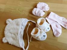 Dětská čepička,capáčky, ponožky h&m vel.2-4m,